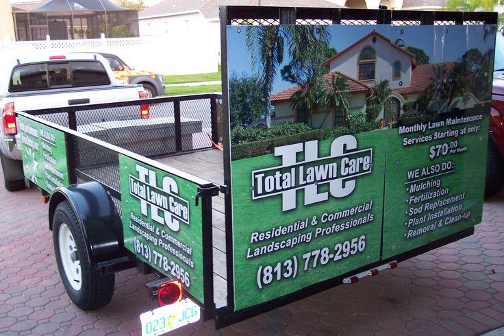 TLC Lawncare Panel Wraps Lawn care logo, Lawn mowing