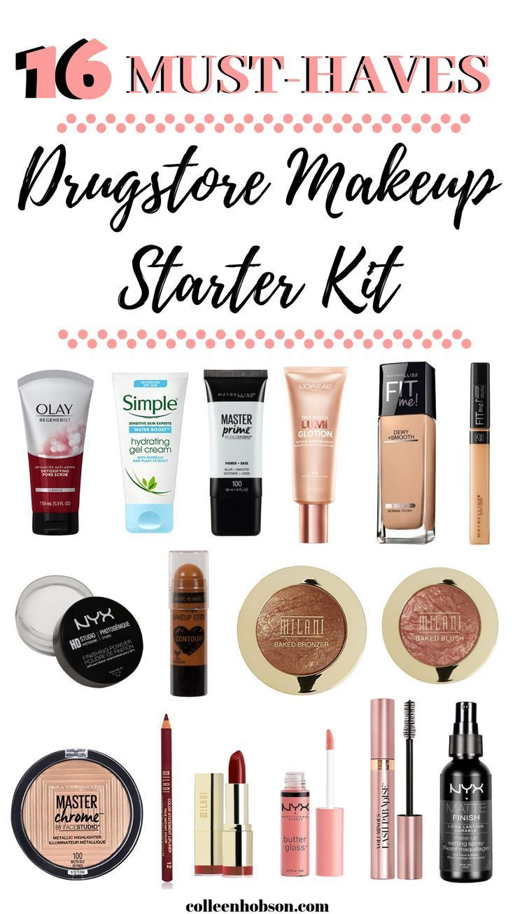 Drugstore Makeup Starter Kit For Beginners (With images