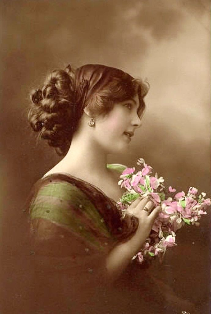 Lovely Woman With Pink Tinted 116