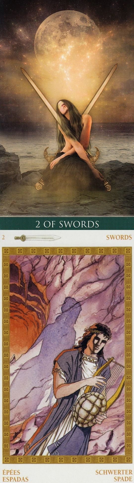 Two of Swords: crossroads and both choices end in suffering (reverse). Thelema Tarot deck and Olympus Tarot deck: lotus tarot yes no, free tarot reading online now vs deccan tarot. Best 2017 witch art and tarot bag diy.