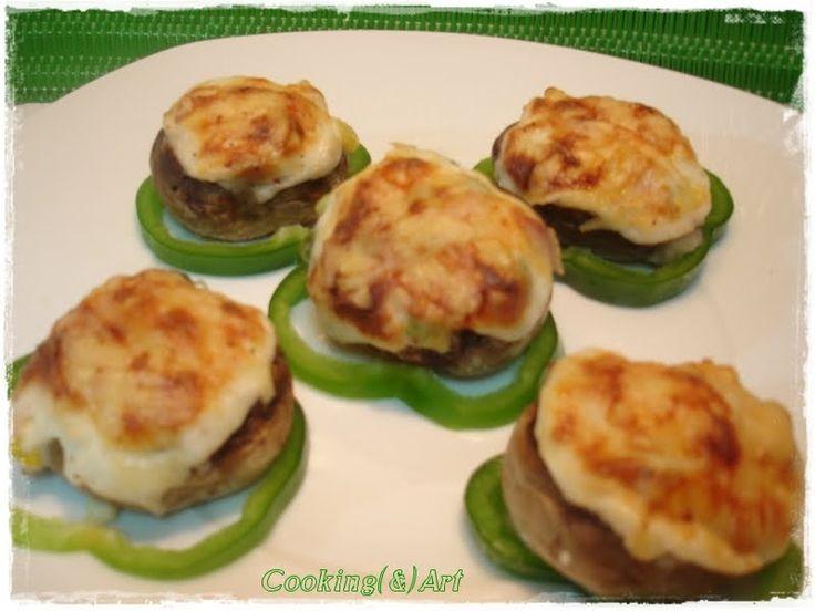 Μαγειρική(&)Τέχνη!: Μανιτάρια γεμιστά με λαχανικά & κρέμα γάλακτος / Stuffed Mushrooms with vegetables a