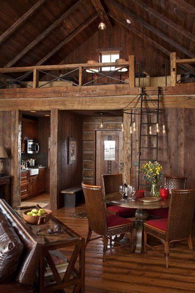 If I could ever get that cabin on the lake....totally would love a loft for the kids.