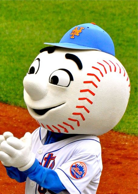 Mr. Met, he is the most adorable thing on 2 legs with a baseball for a head.. ⚾