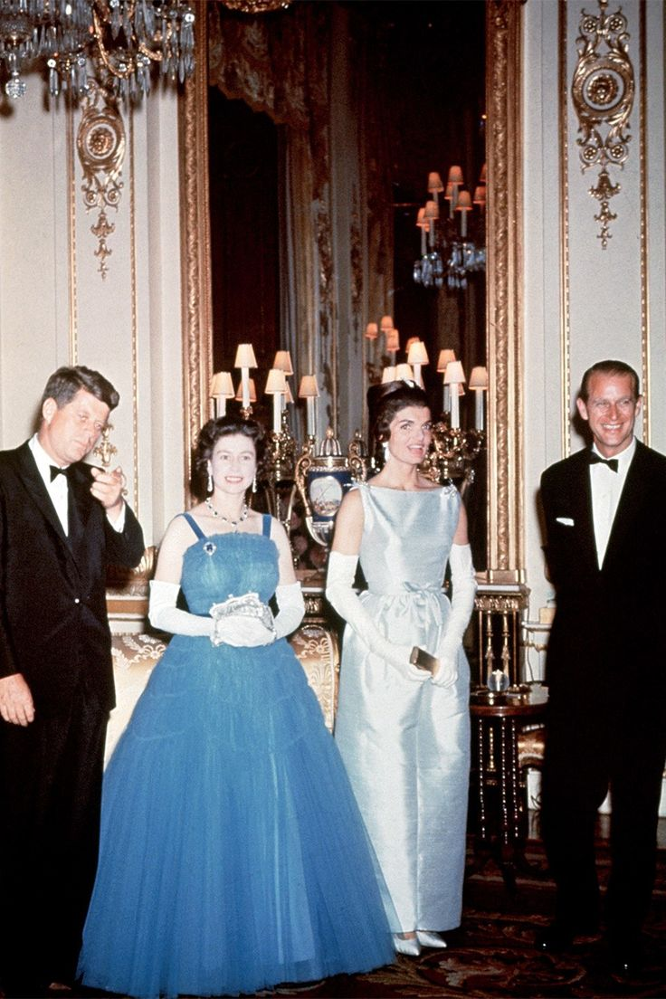 The two welcomed the Kennedys to Buckingham Palace for an official dinner. The meeting will make a cameo on the upcoming second season of The Crown (In the historic story there was reportedly a little drama with the guest list. Mrs. Kennedy had requested her sister Princess Lee Radziwill and her husband, Prince Stanislas Radziwill, be invited, but divorcées—which they both were—were not permitted to dine at the palace at the time).