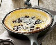 Gâteau aux myrtilles façon pancake à la poêle