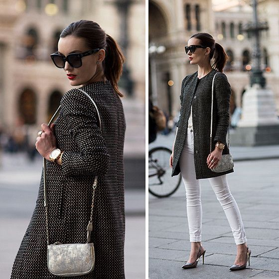 Anouska Proetta Brandon - United Colors Of Benetton Jacket, Mih Jeans, Céline Sunglasses, Marcinao Heels - Milanese.