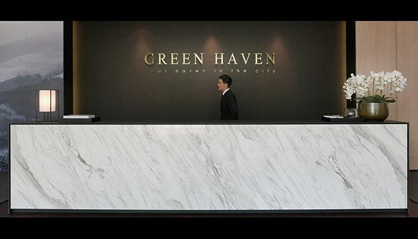 Green Haven Sales Gallery, Malaysia by 0932 Design Consultants.