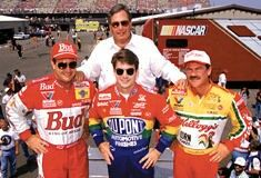 Team Owner Rick Hendrick with his drivers, (from left) Ken Shrader, Jeff Gordon & Terry Labonte