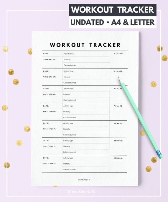 image about Fitness Tracker Printable named Exercise routine Tracker Printable / Exercise session tracker / Exercise session