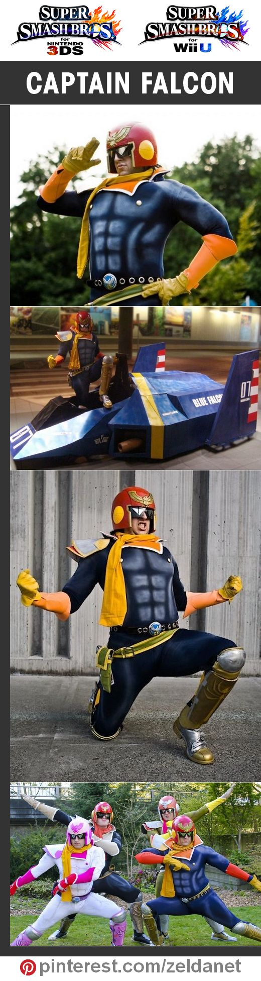 Captain Falcon by Ninjattorney in Super Smash Bros cosplay series   @nintendo #3DS #WiiU Credits in original post at http://www.pinterest.com/zeldanet/super-smash-bros-cosplay-series/