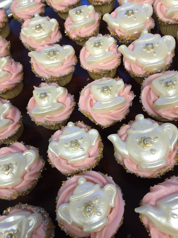 Mini tea cupcakes by Eva Orlop for The Whistle Stop Tea Room