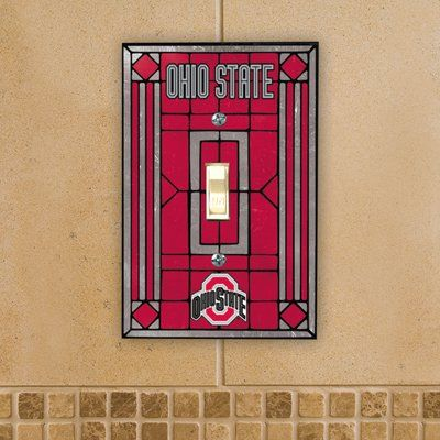 Ohio State Buckeyes   NCAA Art Glass Single Switch Plate Cover The Memory  Company,http