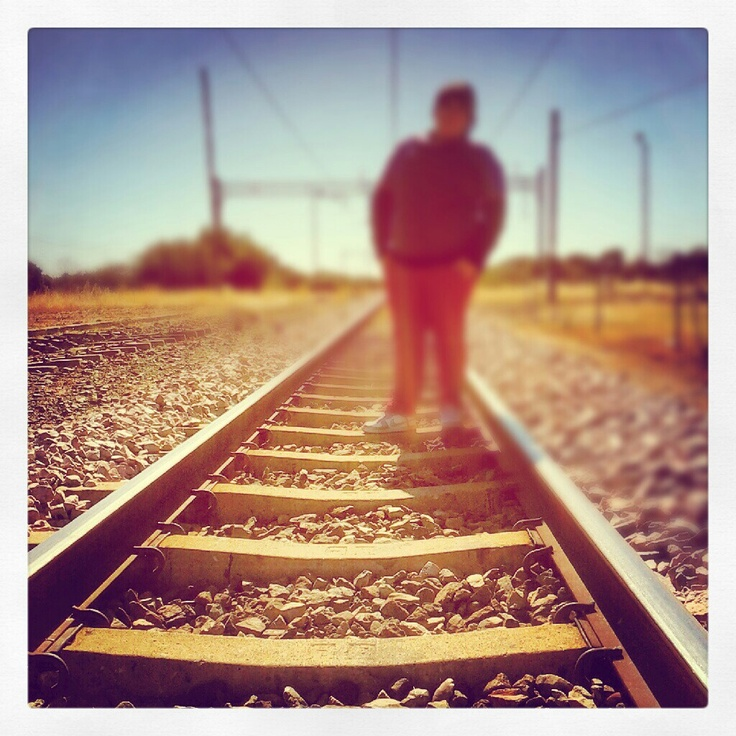 Me on the train track