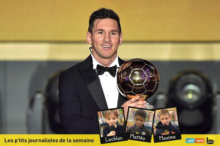 Lionel Messi a reçu le Ballon d'or pour la 5ème fois : un record ! 1jour1actu, partenaire de France Info Junior, te fait découvrir cette récompense.