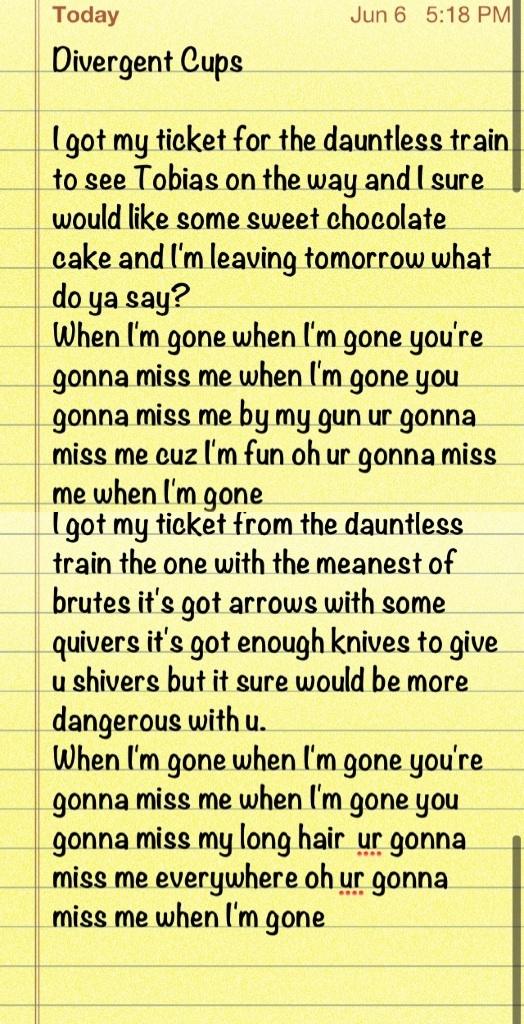 Divergent Cup Song!aaaaaahhhhhahahah!!!!!