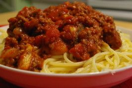 """Bev's Spaghetti Sauce:  """"This is a recipe I have developed over a number of years. This is the only spaghetti sauce my family will request! Very easy to make. I hope your family enjoys it as much as mine does!""""  