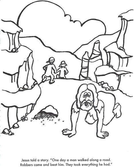 another good samaritan coloring page more at the same site the good samaritan pinterest