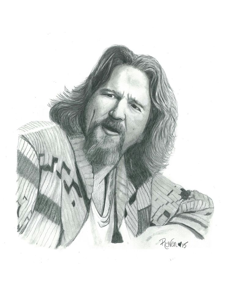 Big Lewbowski Jeff Bridges Portrait