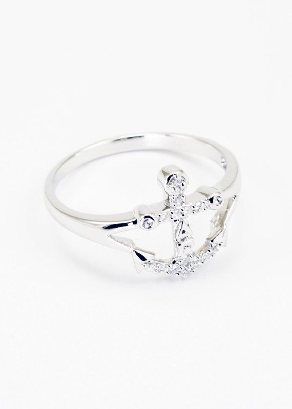 Delta Gamma Sterling Silver Anchor Ring set by CollegiateStandard, $45.00