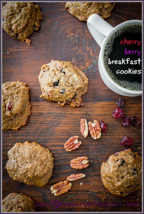 cherry berry breakfast cookies - Healthy Seasonal Recipes: Cherries Berries, Breakfast Cookies, Cookies Action, Berries Breakfast, Cookies Recipe, Seasons Recipe, Quinoa Recipes, Cookie Recipes, Sugar