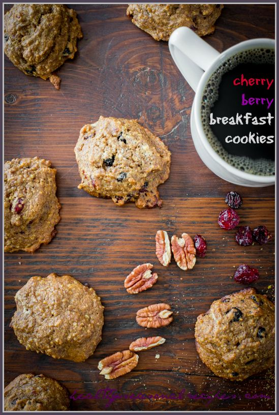 cherry berry breakfast cookies - Healthy Seasonal Recipes: Breakfast Cookies, Di S Recipes, Breakfast Cookie Recipe, Awesome Recipes, Reformed Foodie, Quinoa Recipes, Breakfast Recipes, Blogger Recipes, Cookie Recipes