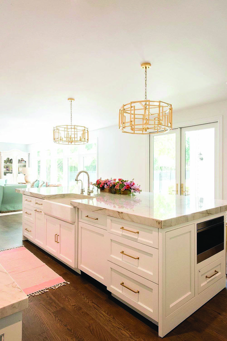 Pretty kitchen island with offset sink only in homeique.com ...