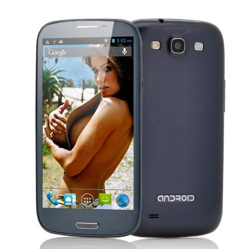 Android 4.2 Quad Core Phone Electra - 5.5 Inch Screen, 1.2GHz CPU, 3G, 1GB RAM, 8GB (Blue)  #Electra #Wireless