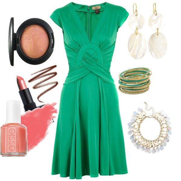 Simple cute green dress - perfect for St. Patrick's Day festivities!