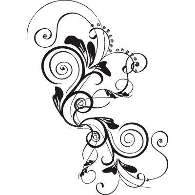 scrolling tattoo designs | Stencils Designs Free Printable Downloads - Stencil 074