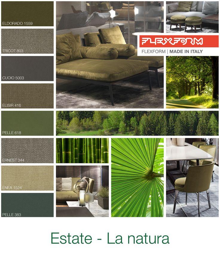 FLEXFORM   SUMMER - NATURE #INSPIRATION #colour #materials