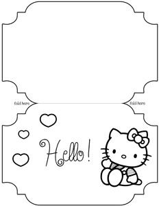 14 best images about Hello Kitty Templates on Pinterest | Free ...