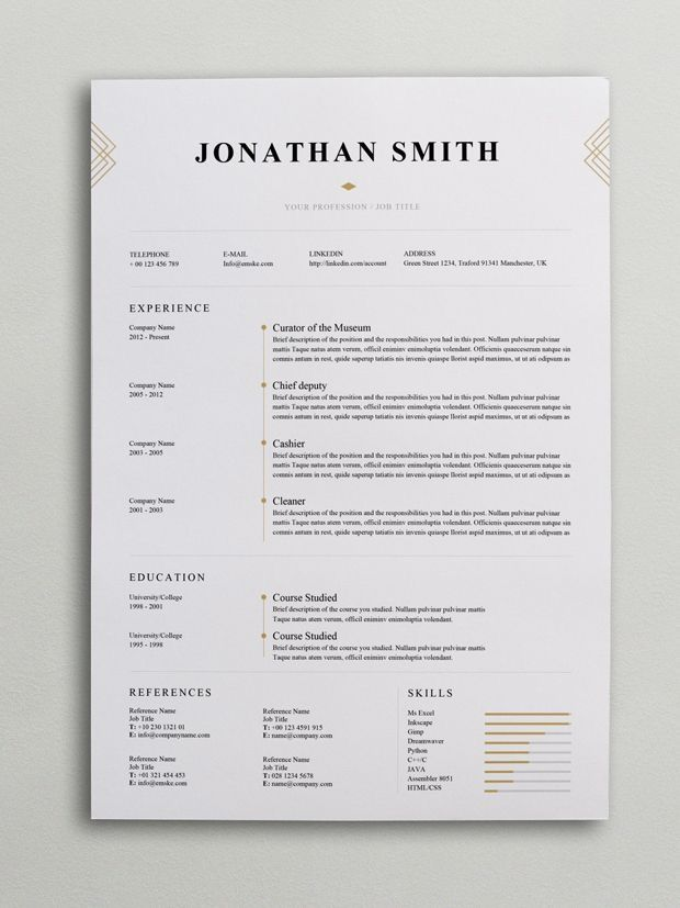 Best    Images On   Resume Design Cv