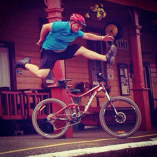 Waihi Giant Trance MTB Jump