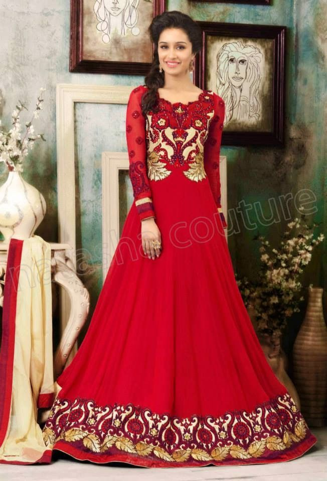 Summer Wear Anarkali Frocks With Shraddha Kapoor By Natasha Couture From 2014