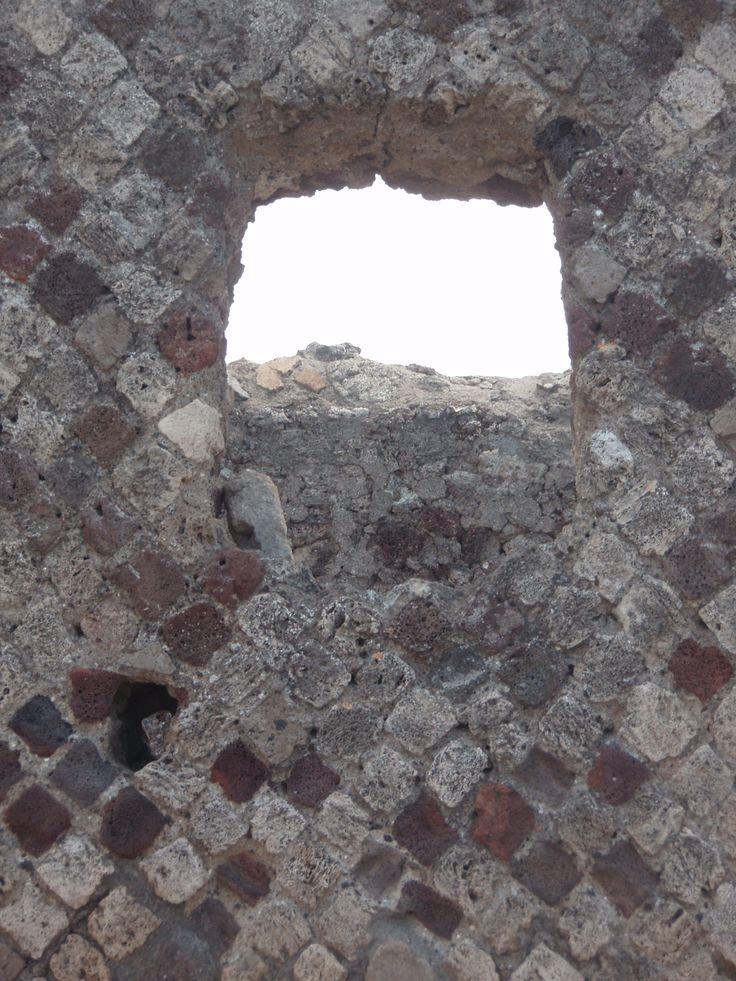 A window that survived Pompeii
