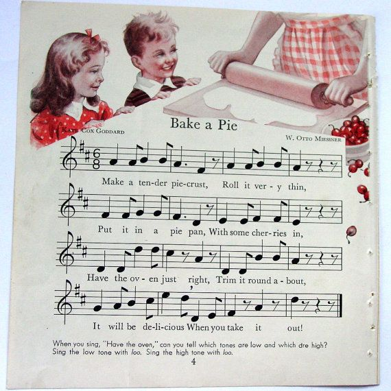 Bake a Pie: Pies Tarts Quiches Cobblers, Music Teachers, Sheet Music, Art Images, Kitchen, Vintage Sheet, Recipe Book, Apple Pies