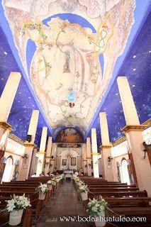 Decoración de la iglesia  ideal para tu boda en playa por Bodas Huatulco