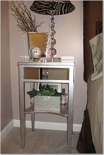 diy mirrored furniture. furniture makeover mirrored nightstand diy
