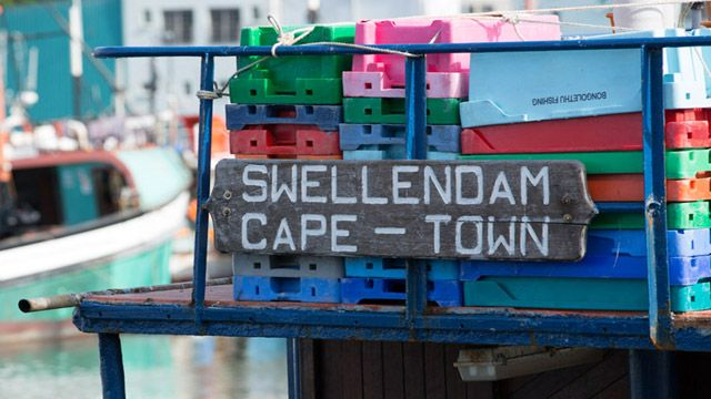 Hout Bay fishing port, south of Cape Town.