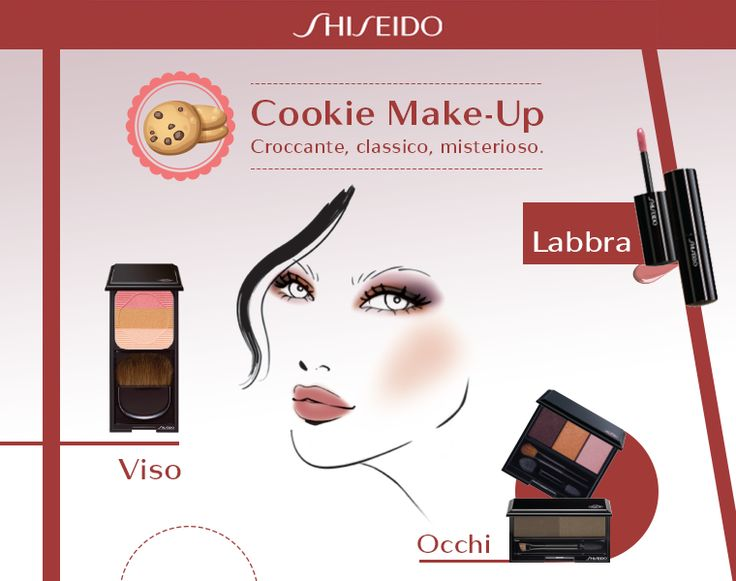Accendi il tuo sguardo di dolce sensualità con i toni del rosa, del viola e dell'arancio, prova il nuovo Cookie #makeup look by Shiseido! www.shiseido.it