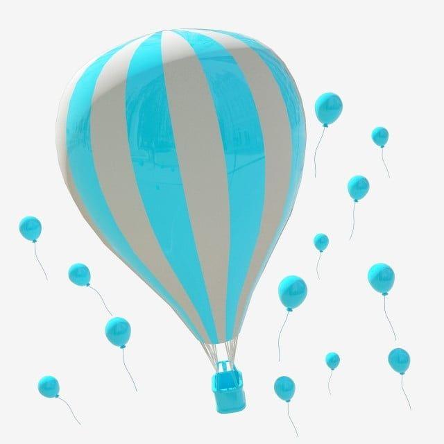3d Cartoon Blue Hot Air Balloon Blue Cartoon Balloon Hot Air Balloon Clipart Hot Air Balloon Blue Hot Air Balloon Png Transparent Clipart Image And Psd File Hot Air Balloon