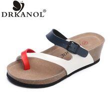 DRKANOL 2017 Nueva Llegada Del Verano de Las Mujeres De Las Sandalias Cómodas Sandalias de Cuña Ocasional Flip Flop Zapatos de Playa Sandalias Mujer(China (Mainland))