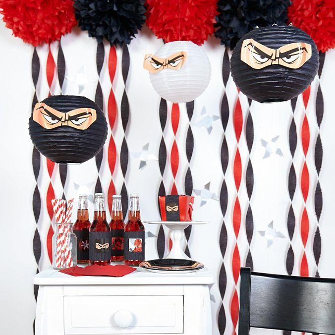 ninja diy tema decorações da festa de aniversário