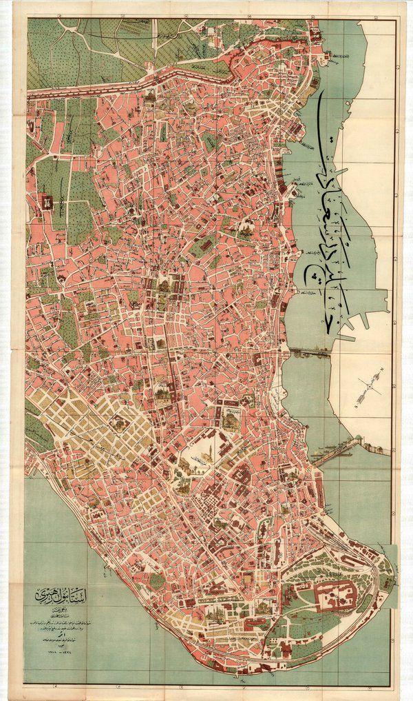 Necip Bey tarafından 1918 tarihinde hazırlanan Tarihi Yarımada haritası