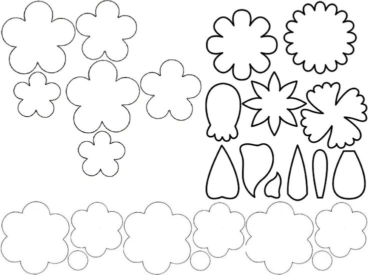Flower Template For Cut Out