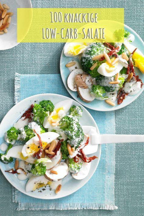 Perfekt zum Lunch oder Abendessen: Diese Low-Carb-Salate machen satt und bringen Power! Hier geht`s zum Gratis-Kochbuch: http://eatsmarter.de/rezepte/rezeptsammlungen/low-carb-salate#/