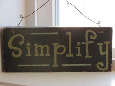 Simple, ordenado, sencillo, pacífico...