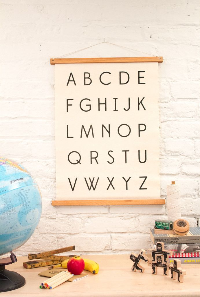 """Alphabet"" - Wall Art - Modern Children's Decor 