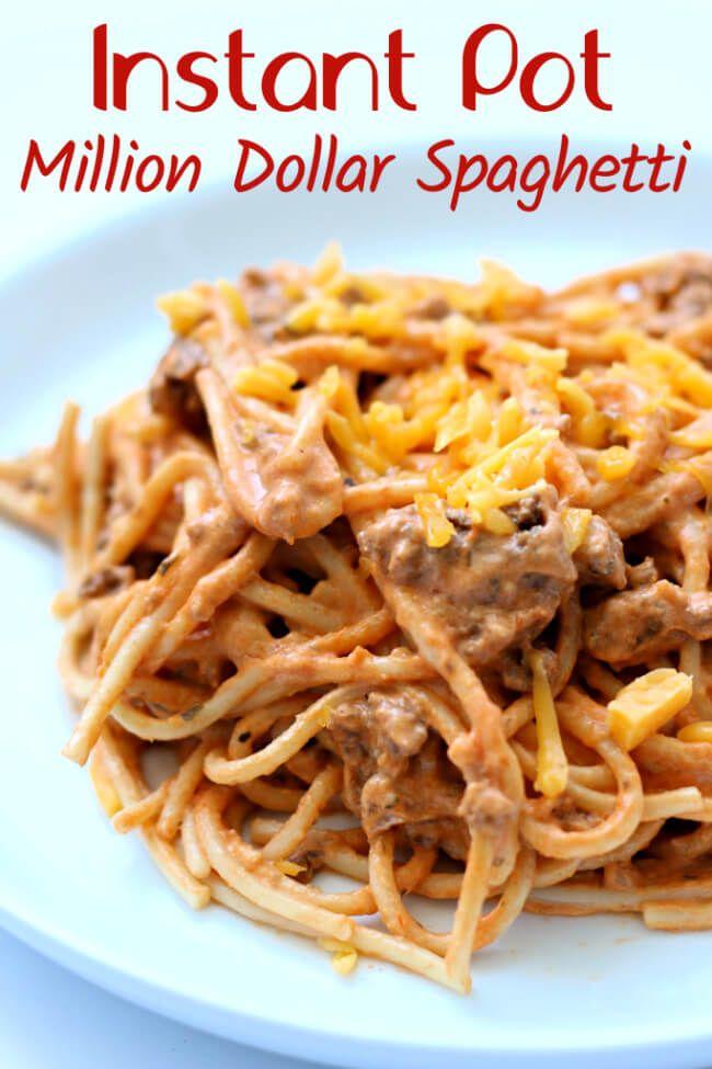 Instant Pot Million Dollar Spaghetti Recipe Instant Pot Pasta
