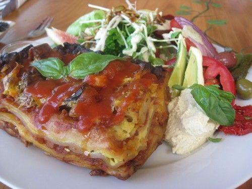 Eden #Roast #Vegetable #Lasagne served with a side salad AU$13: